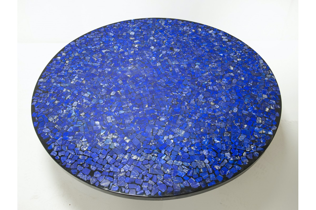 Lapis lazuli coffee table