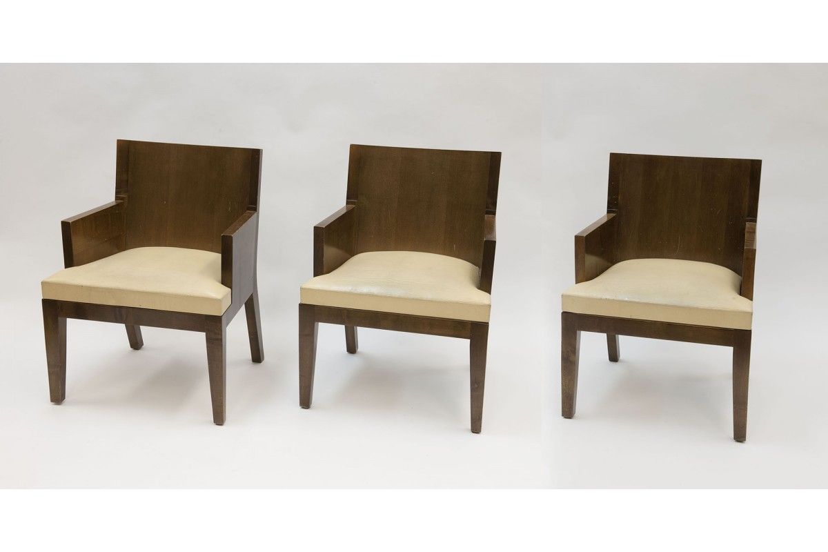 Three armchairs