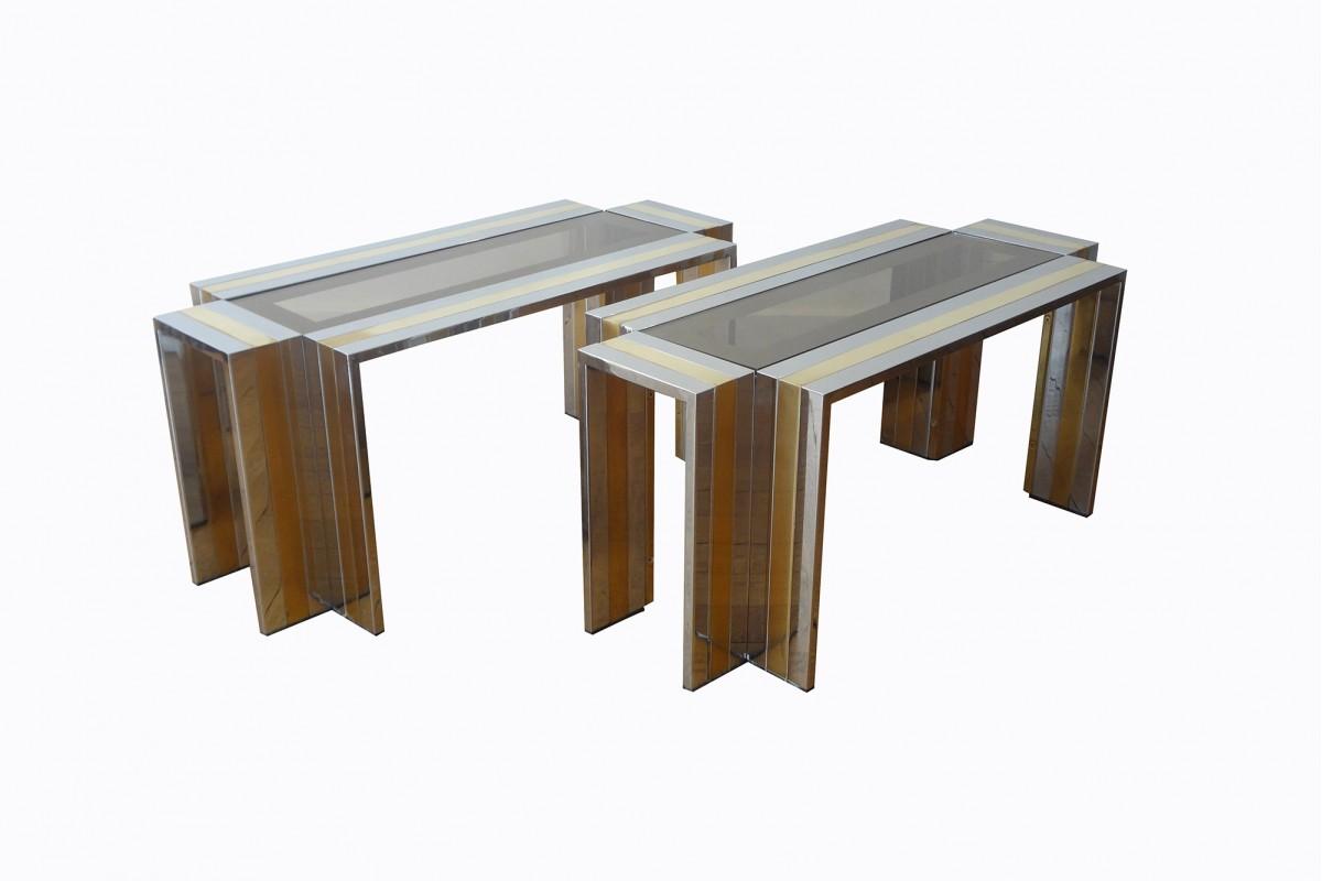 Paire de tables basses...