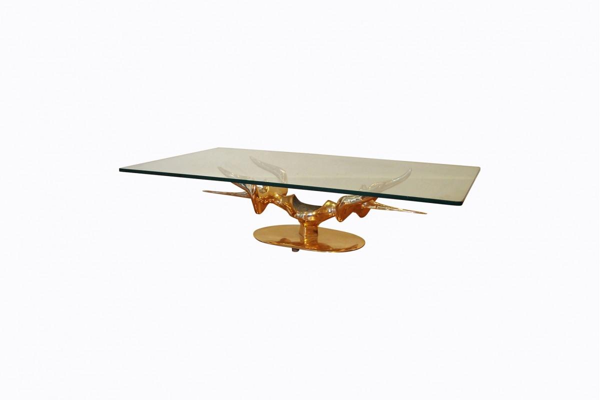 Rare table basse sculpture...