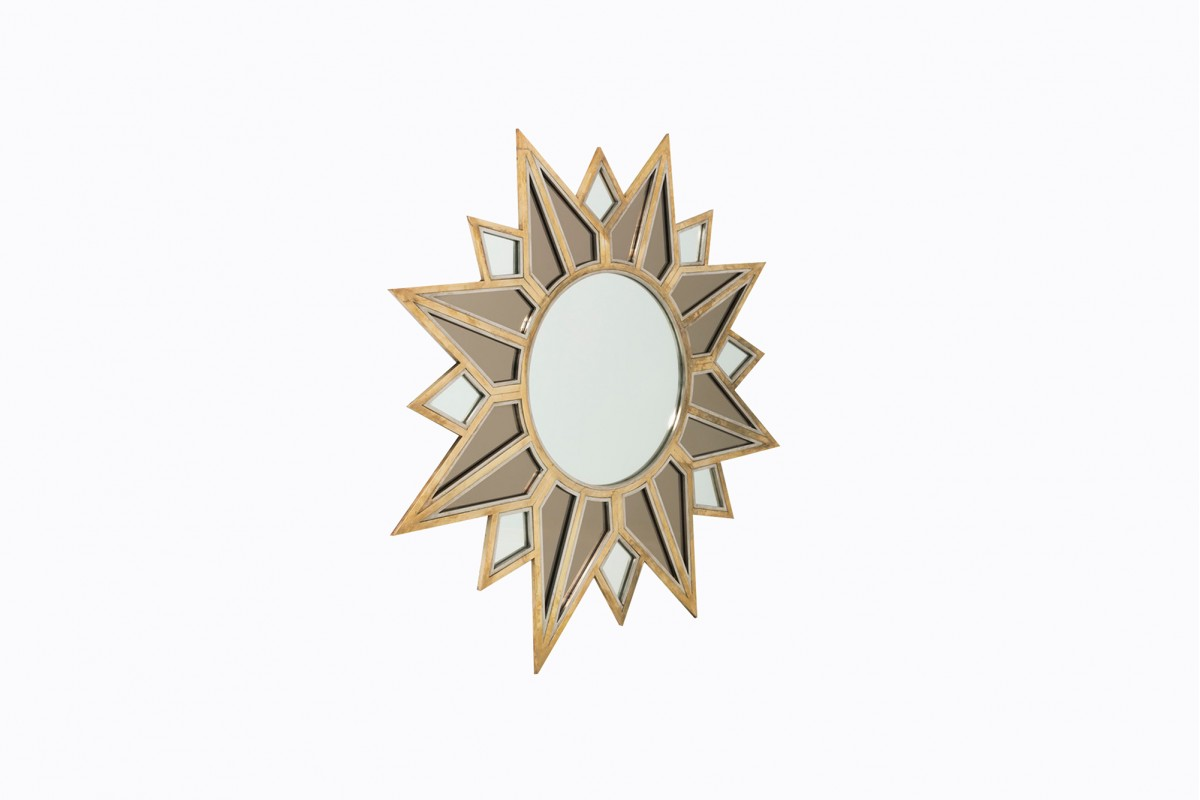 Large star-shaped mirror