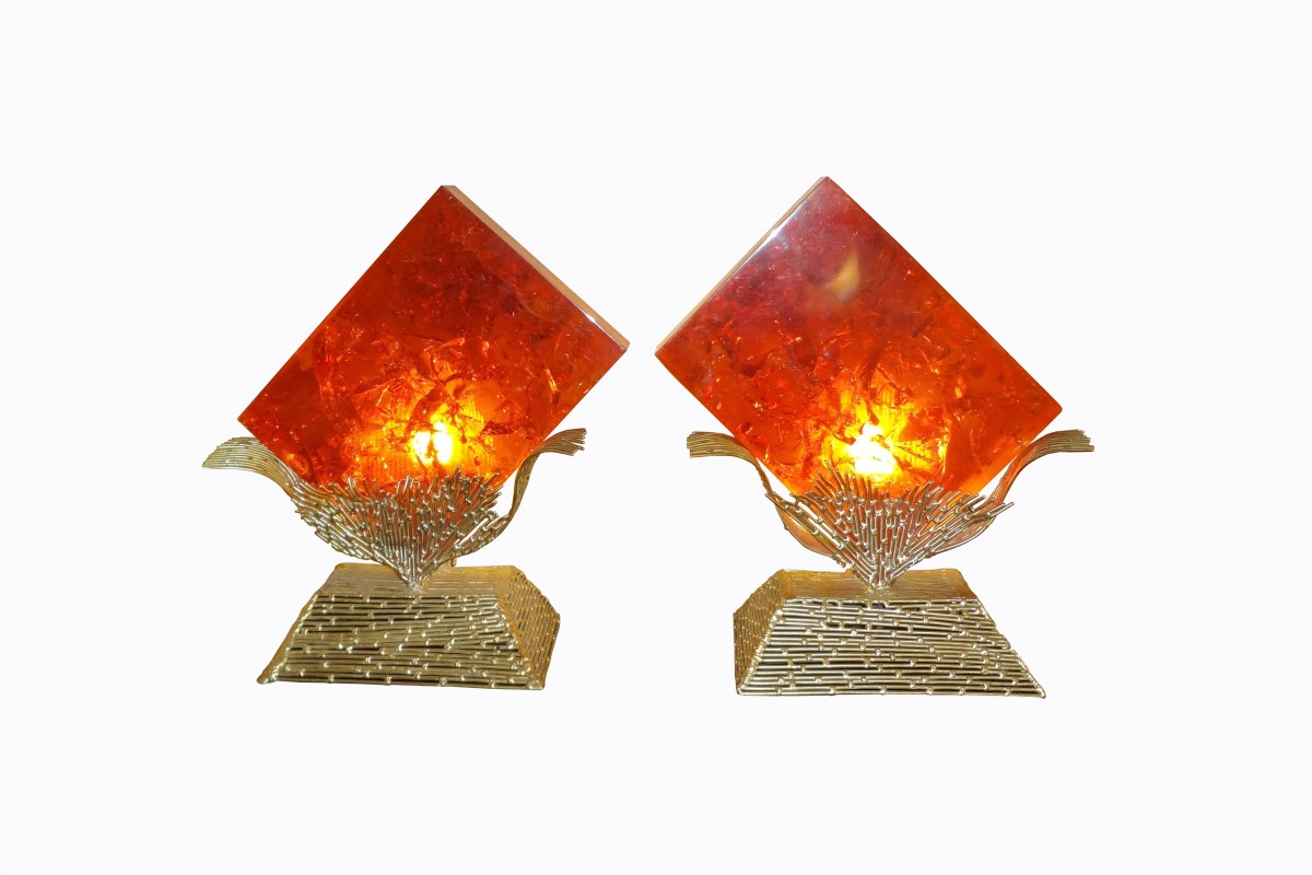 Amazing pair of lamps with...