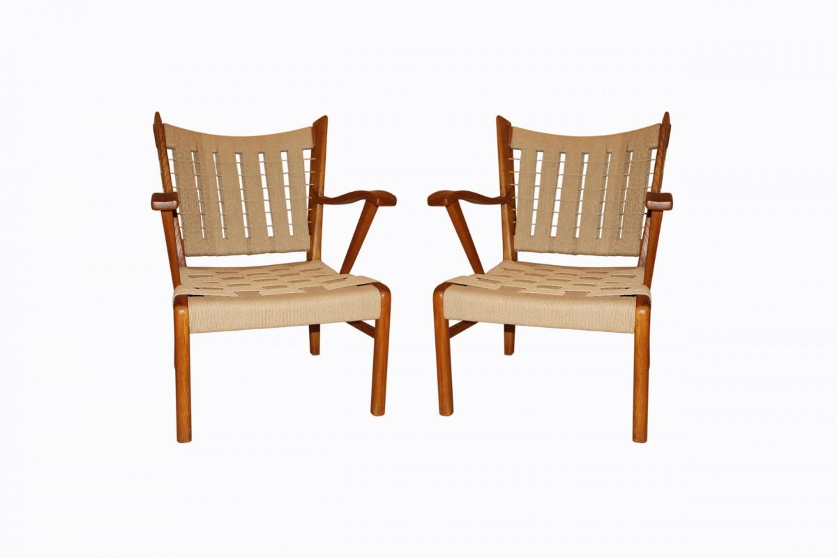 Paire de fauteuils italien