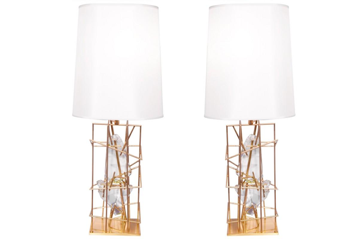 "Paire de lampes ""Gabbia con..."