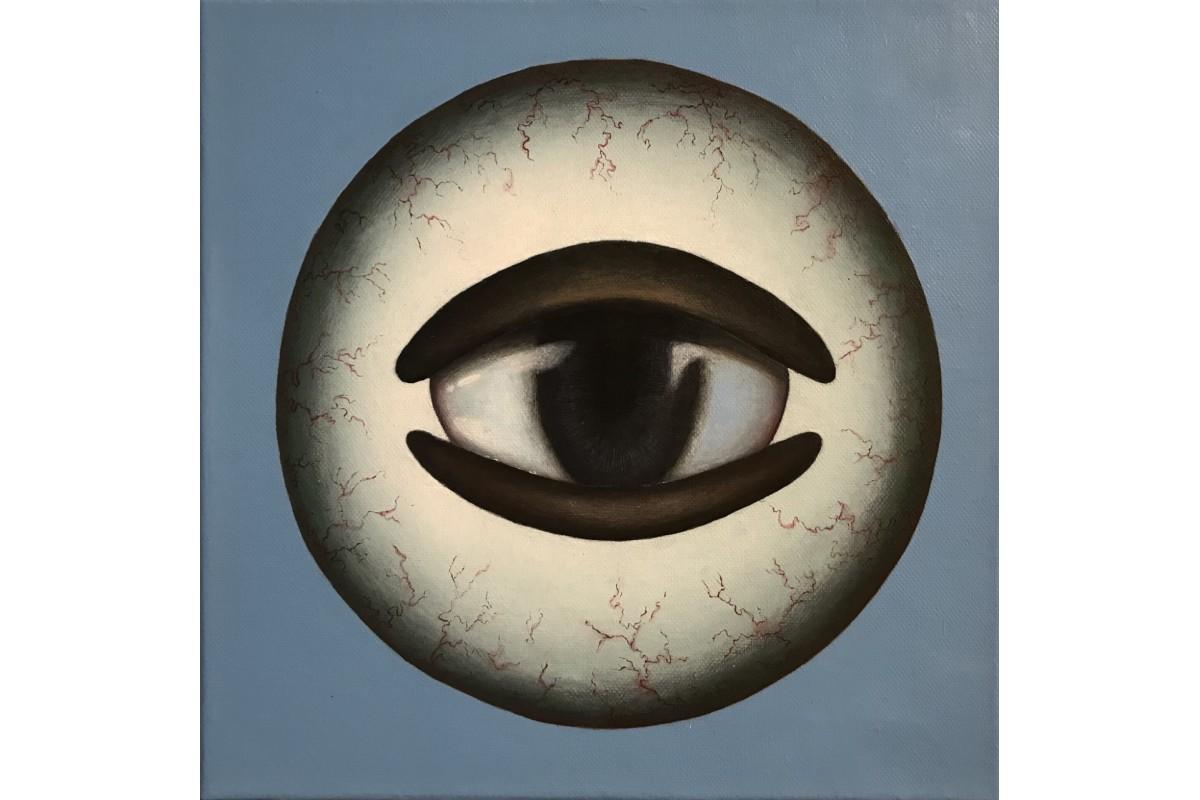 """Painting, """"L'Oeil dans l'oeil"""""""