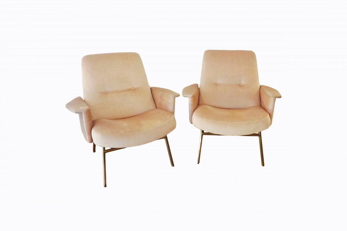 Elégante paire de fauteuils...