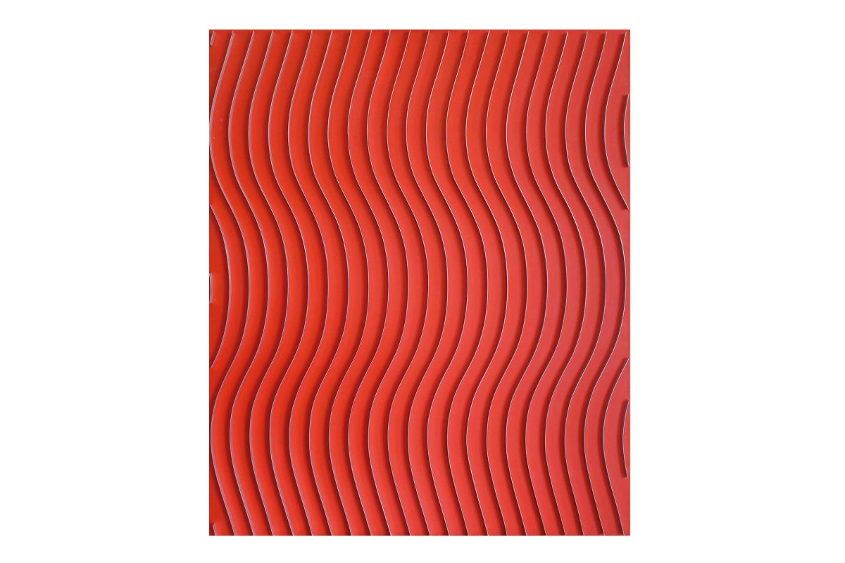 Red sinusoid kinetic painting