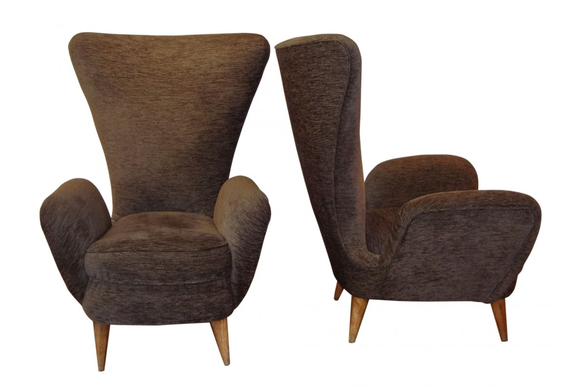 Pair of large lounge chairs